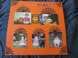 Halloween layout using Cricut Explore